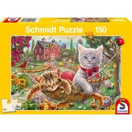 Puzzle Kätzchen im Garten 150 Teile
