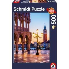 Puzzle Ein Abend auf der Piazzetta 500 Teile