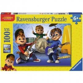 Ravensburger Puzzle - Alvin, Simon und Theodore machen Musik, 100 XXL-Teile