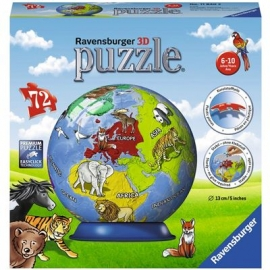 Ravensburger Puzzle - 3D Puzzles - Kindererde, 72 Teile