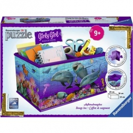 Ravensburger Puzzle - 3D Puzzles - Girly Girl Edition - Box - Unterwasser Girls, 216 Teile