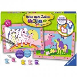 Ravensburger Spiel - Malen nach Zahlen Junior - Süße Ponys