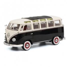 Schuco - VW T1b Samba, schwarz-weiß, 1:18
