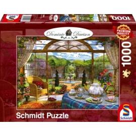 Puzzle Blick aus dem Wintergarten 1000 Teile