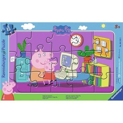 Ravensburger Spiel - Peppa am Computer, 15 Teile
