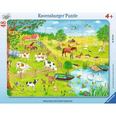 Ravensburger Puzzle - Rahmenpuzzle - Spaziergang auf dem Land