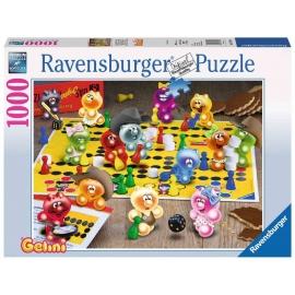 Ravensburger Puzzle - Gelini - Spieleabend bei den Gelinis, 1000 Teile