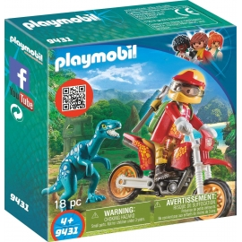 PLAYMOBIL 9431 - Action - The Explorers - Motocross Bike mit Raptor