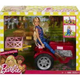 Mattel - Barbie Bäuerin Puppe und Traktor Spielset