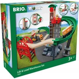 BRIO Bahn - Großes Lagerhaus-Set mit Aufzug
