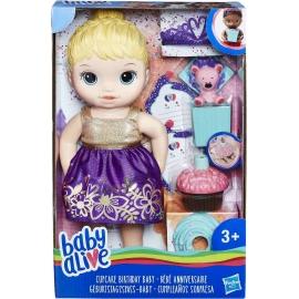 Hasbro - Baby Alive Geburtstagsspaß-Baby, blondhaarig