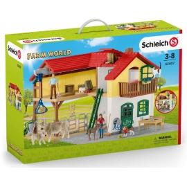 Schleich - World of Nature - Farm World - Bauernhaus mit Stall und Tieren