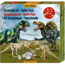 Die Spiegelburg - Ausgrabungsset Battle Pack Tyranno-& Spinosaurus T-Rex World