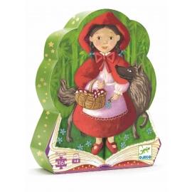 Djeco - Formenpuzzle: Little Red Riding Hood - 36 pcs