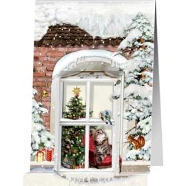 Nostalgische Weihnachtsfenster, Mini-Adventskalender-Sort. (Behr)