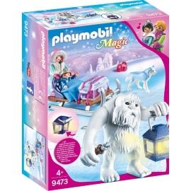 PLAYMOBIL 9473 - Magic - Schneetroll mit Schlitten