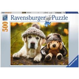Ravensburger Spiel - Hund mit Mütze, 500 Teile
