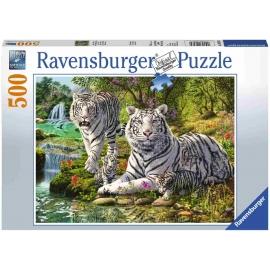 Ravensburger Spiel - Weiße Raubkatze, 500 Teile