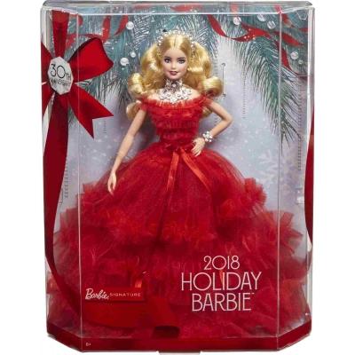 Mattel - Barbie Signature Holiday Barbie Puppe, blond