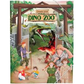 Depesche - Dino World - Create your DINO ZOO, Malbuch  mit Stickern