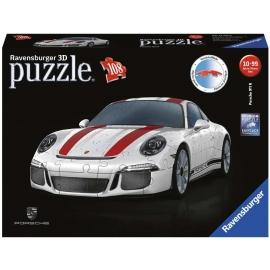 Ravensburger Puzzle - 3D Puzzle Porsche 911 R, 108 Teile
