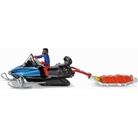 SIKU - Snowmobil mit Rettungsschlitten