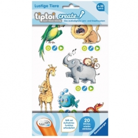 Ravensburger 9084 tiptoi® CREATE Sticker Lustige Tiere
