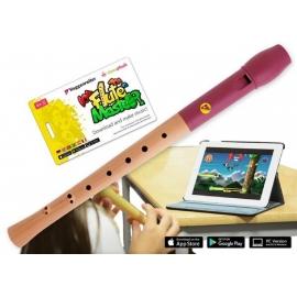 Voggenreiter - Flute Master (App) mit Blockflöte aus Holz-Kunststoff (bar. GW)