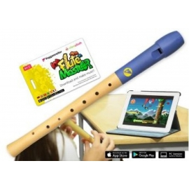 Voggenreiter - Flute Master (App) mit Blockflöte aus Holz-Kunststoff (dt. GW)