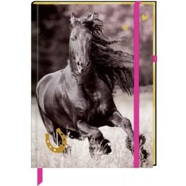 Coppenrath Verlag - I LOVE HORSES - Notizbuch mit Stoffeinband - Meine Notizen