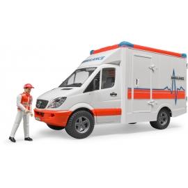 BRUDER - MB Sprinter Ambulanz mit Sanitäter