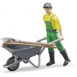 BRUDER - Figurenset Landwirt mit Zubehör