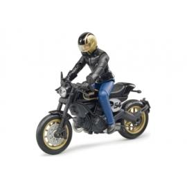 Bruder 63050 Scrambler Ducati Cafe Racer mit Fahrer
