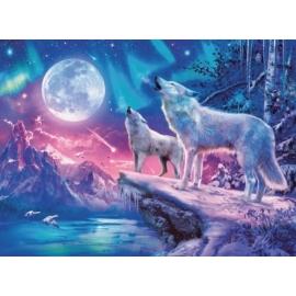 Ravensburger 149520 Puzzle: Wolf im Nordlicht, 500 Teile
