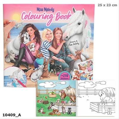 Miss Melody Malbuch mit Tierkindern