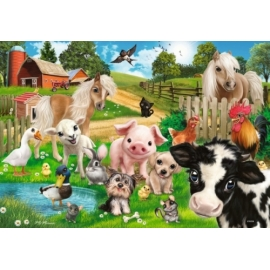Ravensburger 078301 Puzzle: Tierfreunde / Animal Club, 2x24 Teile