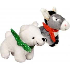 Die Spiegelburg - Fröhliche Weihnachten - Eisbär & Esel zum Aufziehen, sort.