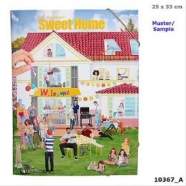 Create your Sweet Home - Malbuch mit Stickern