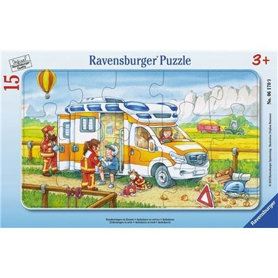 Ravensburger Puzzle - Krankenwagen im Einsatz, 15 Teile