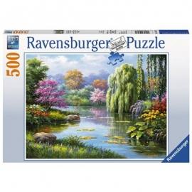 Ravensburger Puzzle - Romantik am Teich, 500 Teile