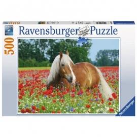 Ravensburger Puzzle - Pferd im Mohnfeld, 500 Teile
