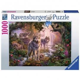 Ravensburger Puzzle - Wolfsfamilie im Sommer, 1000 Teile