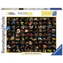 Ravensburger Puzzle - 99 atemberaubende Tiere, 1000 Teile
