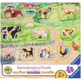 Ravensburger Puzzle - Morgens auf dem Bauernhof, 10 Teile