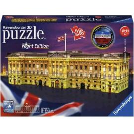Ravensburger Puzzle - 3D Puzzle - Buckingham Palace bei Nacht, 216 Teile