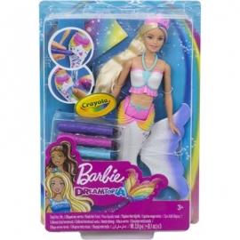 Mattel - Barbie Crayola Farbzauber Meerjungfrau Puppe