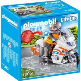 PLAYMOBIL 70051 - City Life - Notarzt-Motorrad mit Blinklicht
