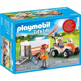 PLAYMOBIL 70053 - City Life - Quad mit Rettungsanhänger