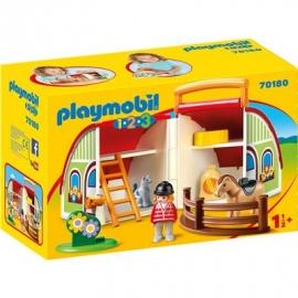 PLAYMOBIL 70180 - 1.2.3 - Mein Mitnehm-Reiterhof
