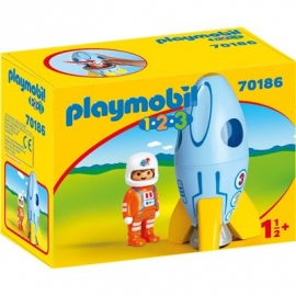 PLAYMOBIL 70186 - 1.2.3 - Astronaut mit Rakete